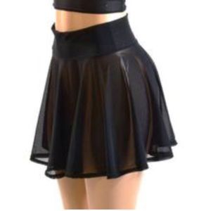 Coquetry Clothing Skirts - Black mesh see through skater skirt  today only  94770cc1c